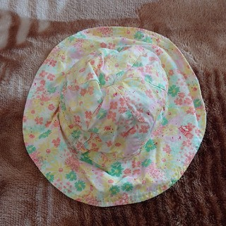 プチバトー(PETIT BATEAU)の【PETIT BATEAU】花柄ベビーハット ベビー帽子 12/18m(帽子)