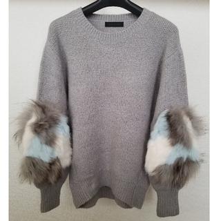 SCOT CLUB - 【美品】スコットクラブ ファー付きグレーセーター