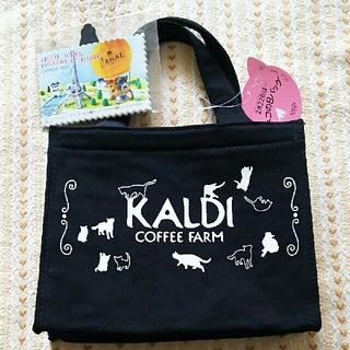 カルディ(KALDI)の未使用☆カルディ☆ネコの日バッグ(トートバッグ)