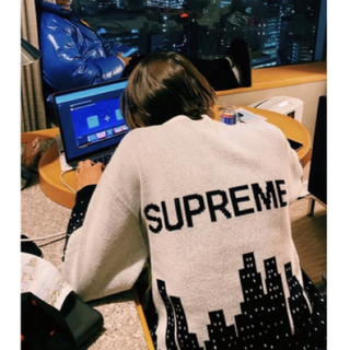 Supreme - 白黒 L supreme New York Sweater