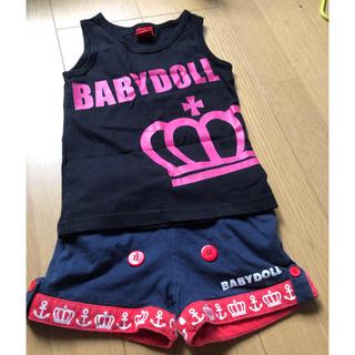 ベビードール(BABYDOLL)のbaby doll タンクトップ パンツセット 100(Tシャツ/カットソー)