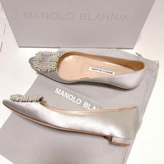 MANOLO BLAHNIK - マノロブラニク フラットシューズ ハンギシ