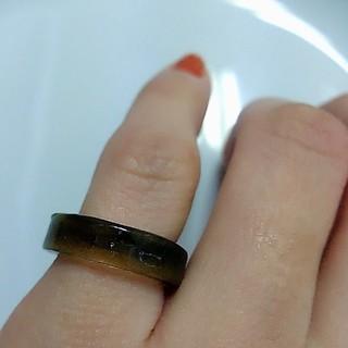 シックなダークブラウンリング 指輪(リング(指輪))