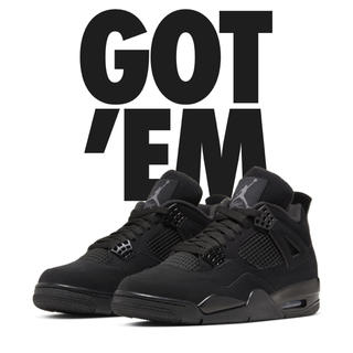 NIKE - NIKE AIR JORDAN 4 BLACK CAT