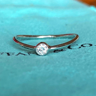 Tiffany & Co. - ティファニー 正規品 ウェーブ シングルロウ ダイヤモンド リング