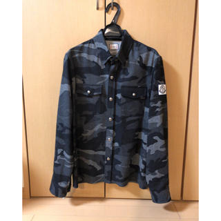 モンクレール(MONCLER)のモンクレール ガムブルー ウールシャツ(シャツ)