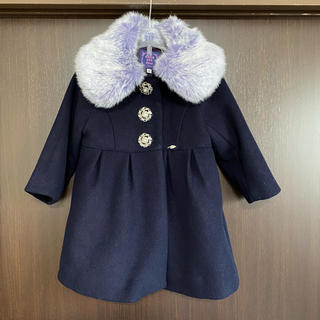 ANNA SUI mini - ファー付きコート90