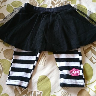 ベビードール(BABYDOLL)のベビードール☆チュールスカート☆レギンス☆サイズ80(パンツ)