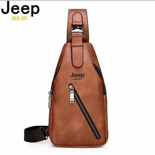 ジープ(Jeep)のJeep Buluo★メンズ ショルダーバッグ★ボディバッグ★キャメル色★新品♪(ショルダーバッグ)