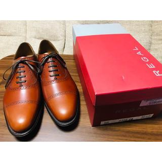 リーガル(REGAL)の【箱付き】REGAL 02DR ブラウン クォーターブローグ(ドレス/ビジネス)