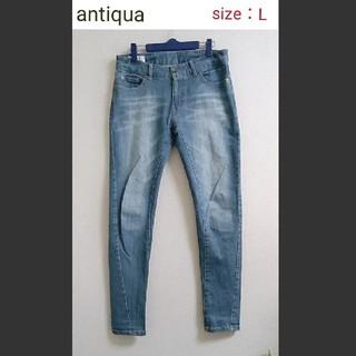 antiqua - 【美品】antiqua Lサイズ ストレッチデニム