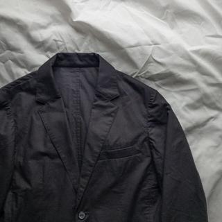 山内 カシミアタッチのコットンシャツジャケット(テーラードジャケット)