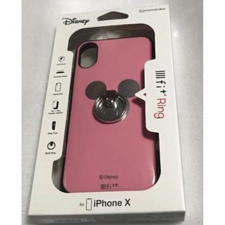ディズニーキャラクターiPhoneRing iPhoneX対応(ピンク)