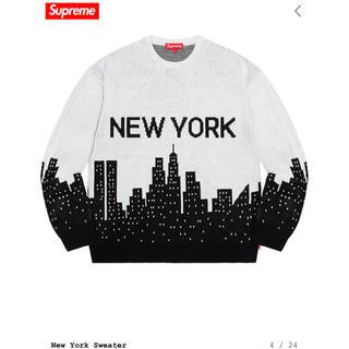 シュプリーム(Supreme)の希少 XL Supreme  New York Sweater white(ニット/セーター)