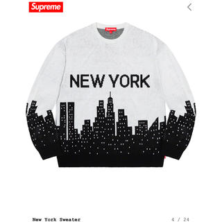 Supreme - 希少 XL Supreme  New York Sweater white