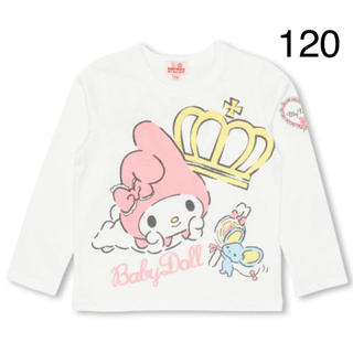 ベビードール(BABYDOLL)の新品 BABYDOLL☆120 マイメロディ ロンT 白 ベビードール(Tシャツ/カットソー)