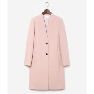 PLST - 【美品】完売品/PLST プラステ ニジュウオリカラーレスコート 春 ピンク