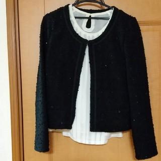 しまむら - 黒ジャケット風カーディガン