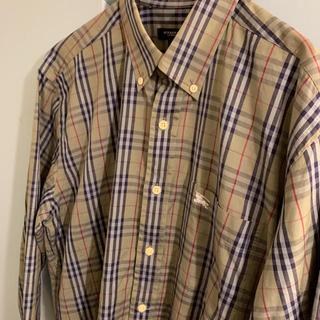 BURBERRY - BURBERRY バーバリー ロンドン チェックシャツ シャツ カーキ