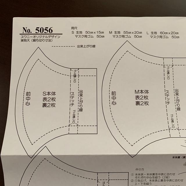 フィットサージカルマスク / 【速達】立体マスク 型紙 鎌倉スワニーの通販