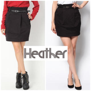 ヘザー(heather)のヘザー  コクーンスカート(ひざ丈スカート)