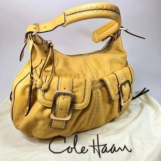 コールハーン(Cole Haan)の【美品】コール ハーン ブランドチャーム付バッグ マスタード 保存袋(ショルダーバッグ)