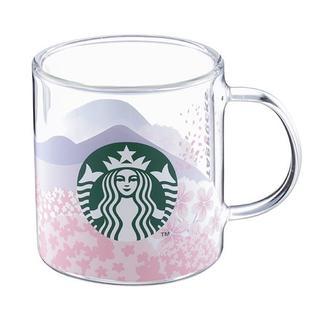 スターバックスコーヒー(Starbucks Coffee)の【台湾 スターバックス】2020年 桜 さくら グラスコップ ピンク(グラス/カップ)