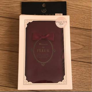 メゾンドフルール(Maison de FLEUR)のメゾンドフルール ロゴフリルiPhoneケース 赤(iPhoneケース)