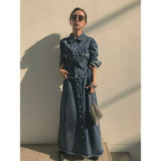 Ameri VINTAGE - 4WAY DENIM DRESS COAT