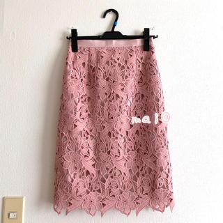 JUSGLITTY - 美品‼︎ ジャスグリッティー オータムレーススカート タイトスカート ピンク