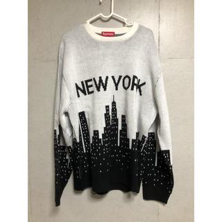 Supreme - 20ss supreme New York sweater Lサイズ