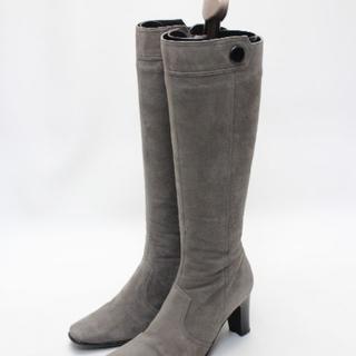 バークレー(BARCLAY)のBARCLAY 本革スエードロングブーツ(22cm)(ブーツ)
