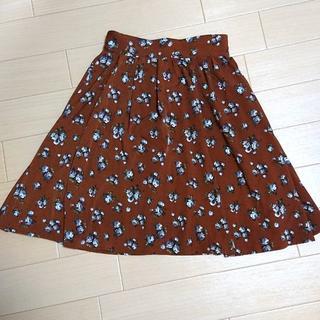 アルシーヴ(archives)のarchives 花柄スカート 茶色(ひざ丈スカート)