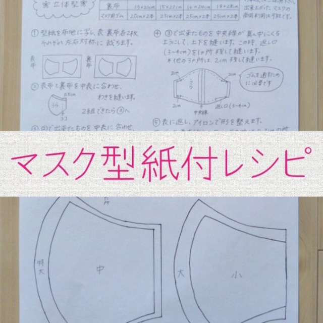 フィッティ マスク 7days - ハンドメイド マスク 型紙付レシピ マスクゴムセットの通販