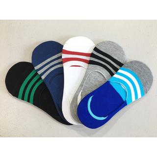 靴下 メンズ 5足組 フットカバー 浅履き 滑り止め 表綿100%