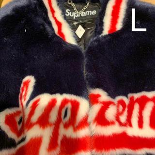 Supreme - supreme faux fur varsity jacket