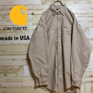 カーハート(carhartt)の【USA製】カーハート ワークシャツ ビックシルエット 古着女子 古着男子(シャツ)