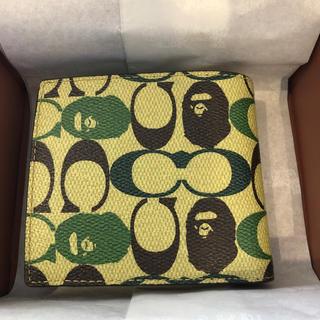 アベイシングエイプ(A BATHING APE)のBAPE×COACH COIN WALLET GREEN(折り財布)