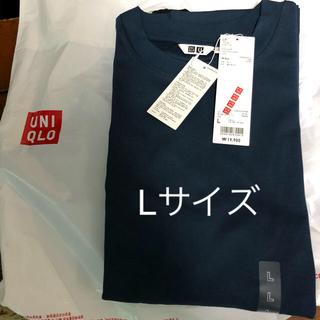 UNIQLO - ユニクロユー エアリズムコットンオーバーサイズTシャツ Lサイズ ブルー