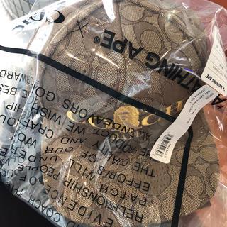 A BATHING APE - 新品 BAPE X COACH JACQUARD BASEBALL CAP