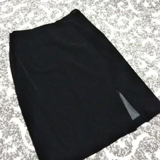 ロペ(ROPE)の再値下げ‼️【美品】ベロア スカート 黒 膝丈スカート(ひざ丈スカート)