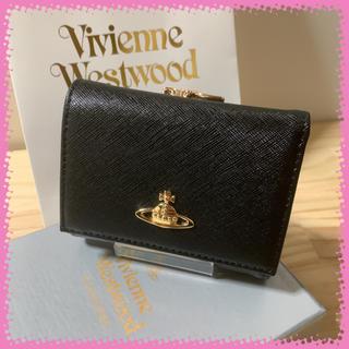 Vivienne Westwood - 新品 ヴィヴィアンウエストウッド 三つ折り 折り財布 黒