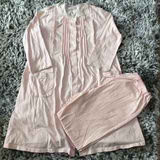 Wacoal - ワコール マタニティ 授乳口付きパジャマ上下セット ピンク M