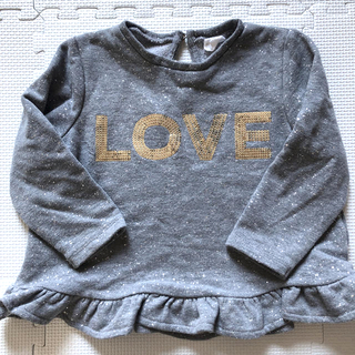 エイチアンドエム(H&M)のH&M キラキラトレーナー(Tシャツ/カットソー)