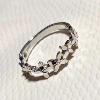 未使用 k10WG ピンキーリング 1号 キンモクセイ(リング(指輪))