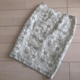 NATURAL BEAUTY BASIC - ナチュラルビューティーベーシック 花柄 レーススカート