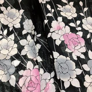 フリフ(ふりふ)の黒×白、ピンク 浴衣 そしてゆめ きもの大和(浴衣)