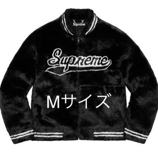 Supreme - Supreme Faux Fur Varsity Jacket M size