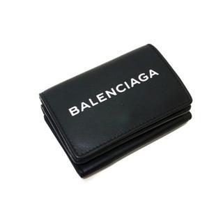 Balenciaga - バレンシアガ BALENCIAGA ■ エブリデイウォレットロゴ3つ折り 財布
