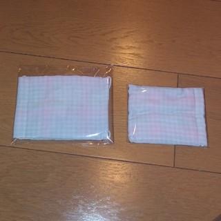 ハンドメイド マスク2枚セット チェック柄 サイズ違い(その他)